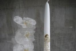 Žvakės papuošimas